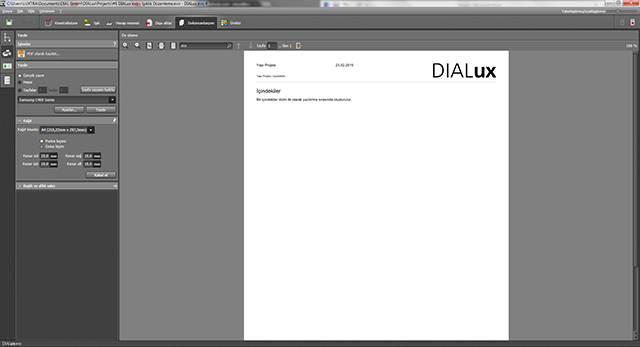 dialux-dokumantasyon-sekmesi-1